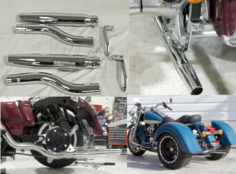 frankenstein trike kit for harley davidson FL roadking