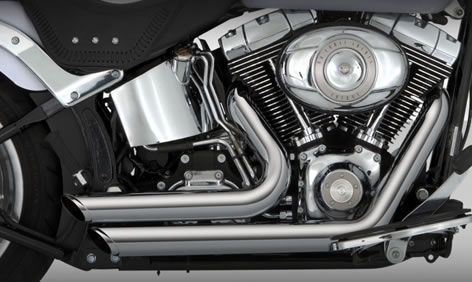 vance and hines softail exhaust for frankenstein trike kit for harley davidson