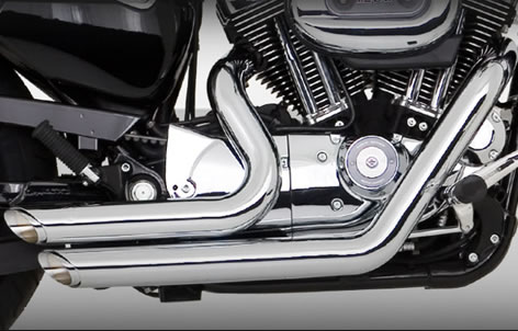 exhaust for frankenstein trike kit for harley davidson sportster