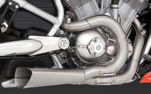 V-rod exhaust for Frankenstein Trike Kit
