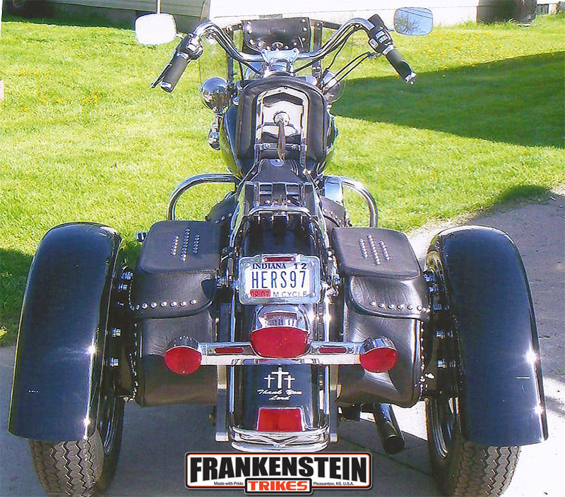 frankenstein trikes trike conversion on heritage softail