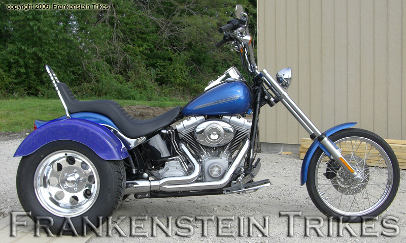 Frankenstein Trike kit on Harley-Davdison Softail picture
