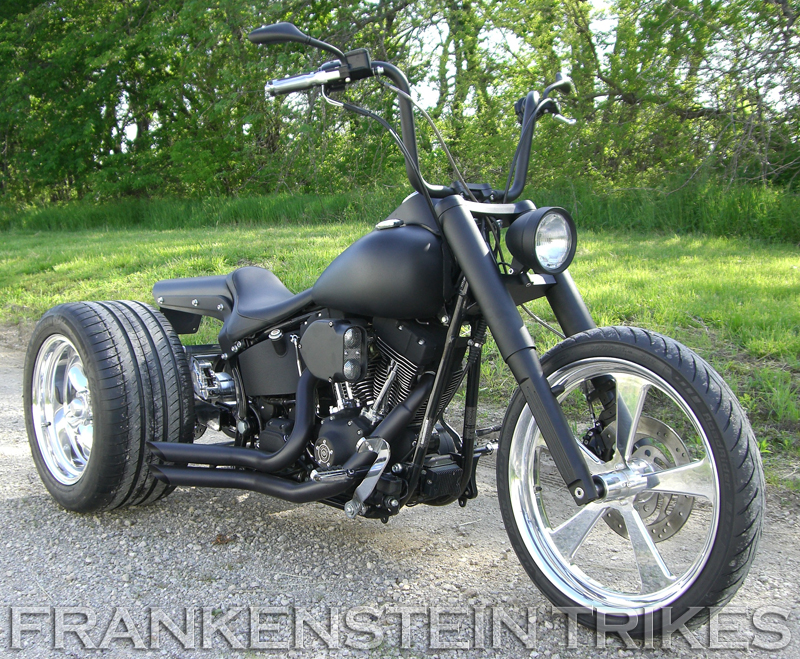 Harley Davidson Softail with Frankenstein Trike Kit