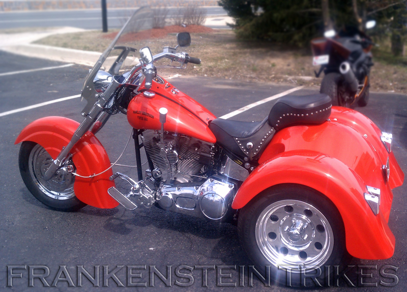 1998 H-D softail with Frankenstein Trike Kit and indian body
