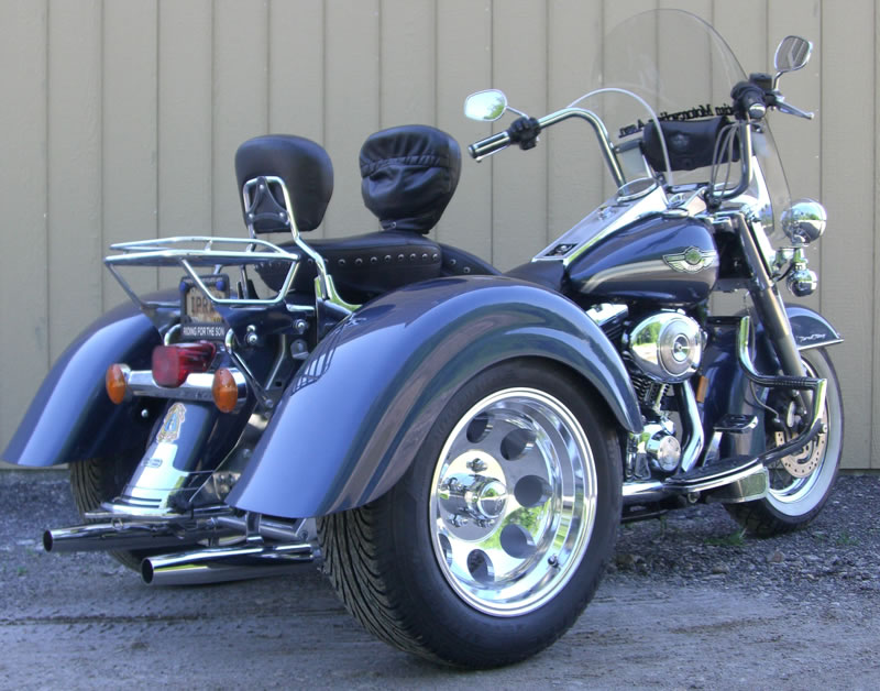 harley davidson road king with frankenstein trikes trike kit