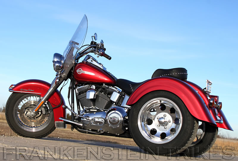 Softail trike using Frankenstein Trikes Trike Conversion Kit Photo