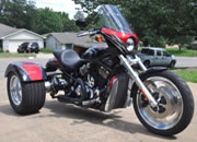 Harley Davidson V-Rod Trike with Frankenstein Trikes Conversion Kit